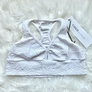 White sports bra by Coco On The Go